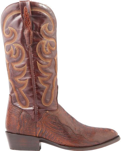 El Dorado Men's Ostrich Leg Brass Western Boots - Medium Toe, Bronze, hi-res
