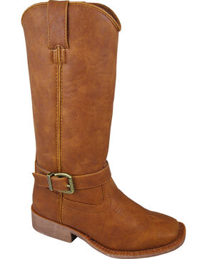 Smoky Mountain Girls' Buttercup Tall Western Boots - Square Toe, Tan, hi-res