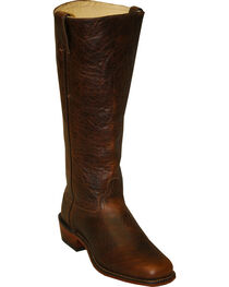 Abilene Men's Cowhide Shooter Boots - Square Toe, Brown, hi-res