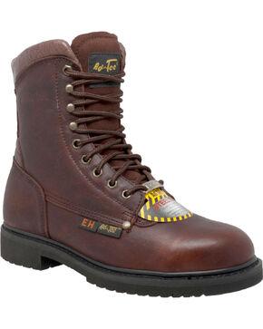 "Ad Tec Men's 8"" Steel Toe Work Boots, Brown, hi-res"