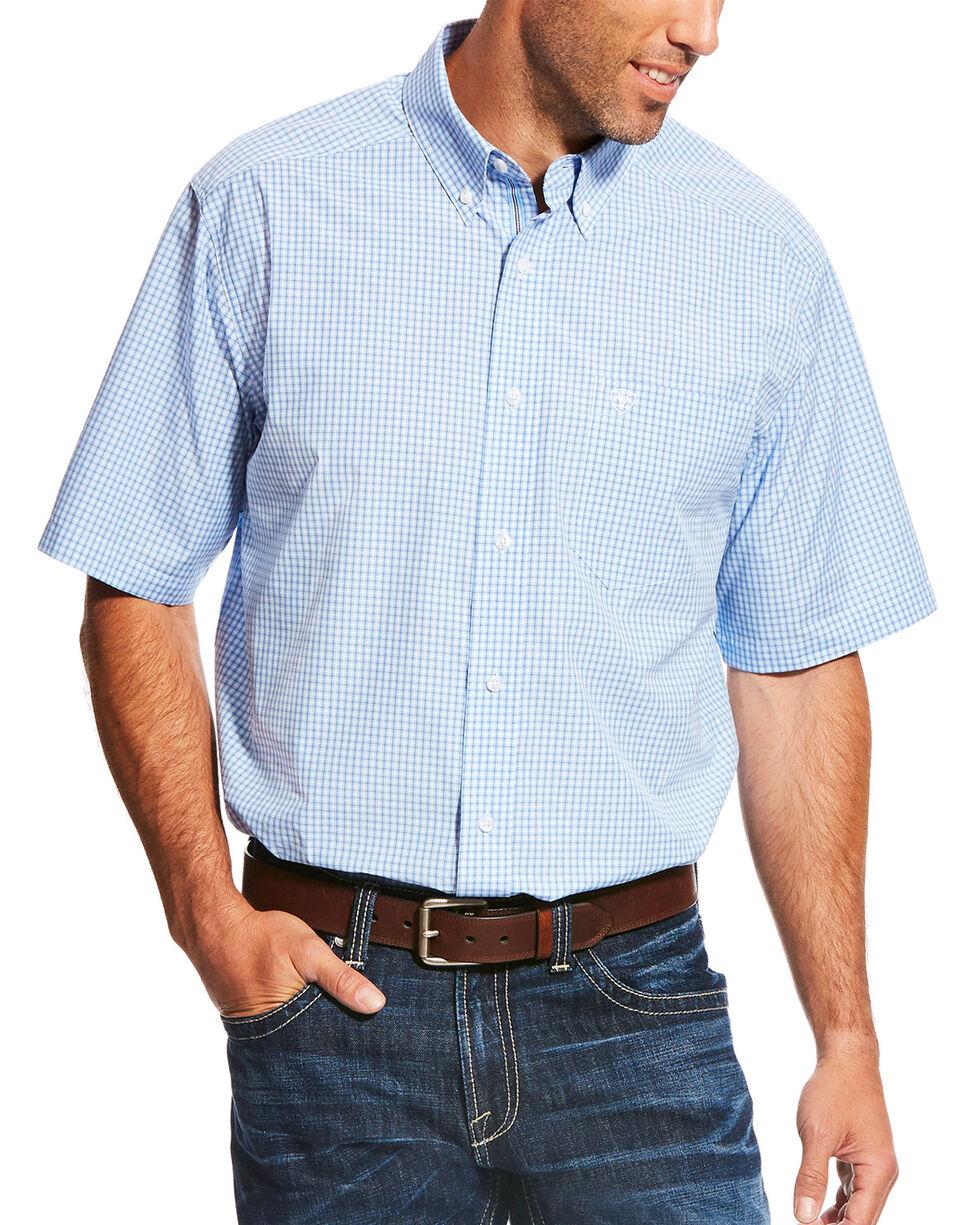 Ariat Men's Blue Marrow Short Sleeve Performance Shirt , , hi-res