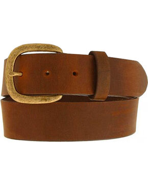 Justin Men's Leather Work Belt, Bark, hi-res