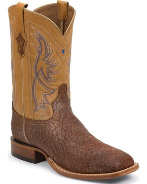 Tony Lama Men's Maverick Square Toe Boots, Tan, hi-res