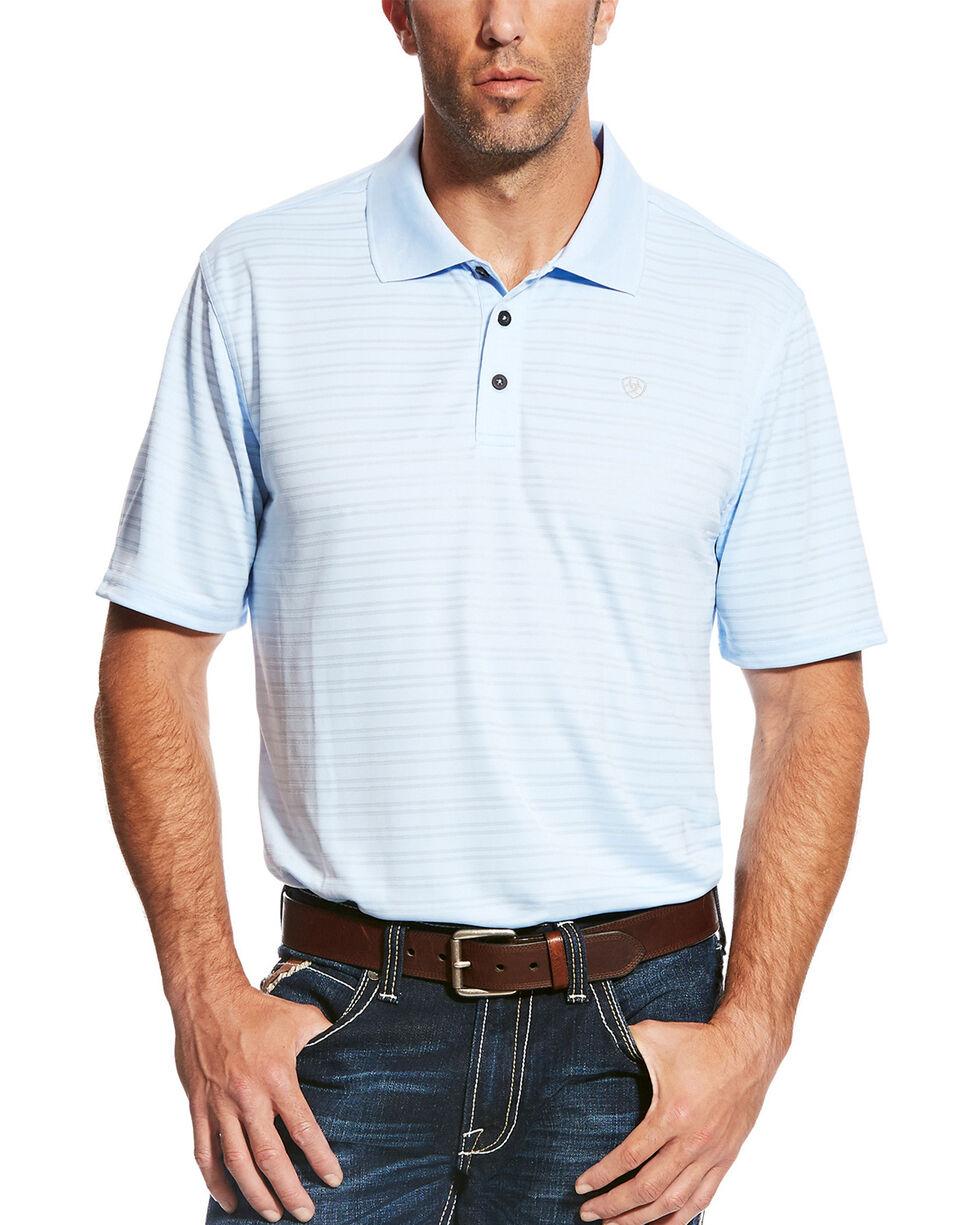 Ariat Men's Blue Tek Short Sleeve Polo , Blue, hi-res