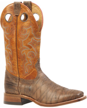 Boulet Rio Brown Delantero Piel Cowboy Boots - Square Toe, Brown, hi-res