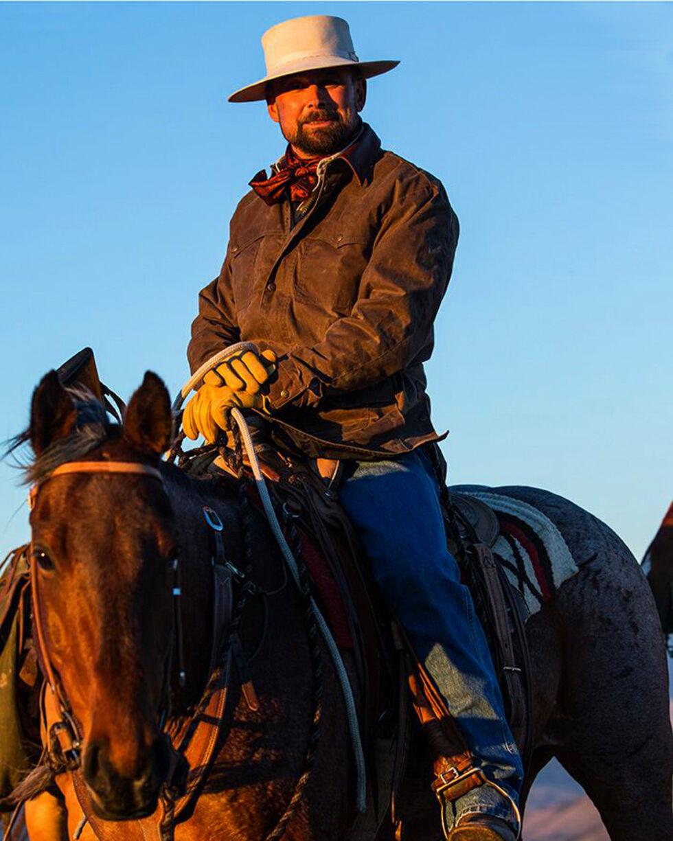 Schaefer Outfitter Men's Oak Rangewax High Plains Drifter Jacket , Distressed Brown, hi-res