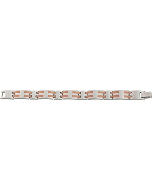 Sabona Men's Stainless Steel & Copper Bar Magnetic Bracelet, Two Tone, hi-res