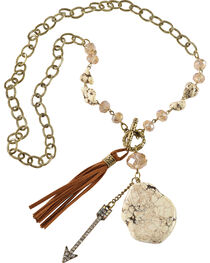 Shyanne® Women's Charm & Tassel Necklace, , hi-res