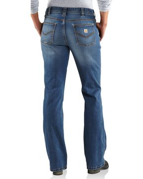 Carhartt Women's Original Fit Medium Indigo Jasper Jeans, Med Indigo, hi-res