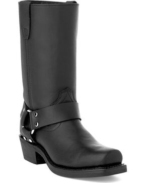 Durango Women's Harness Motorcycle Boots, Black, hi-res