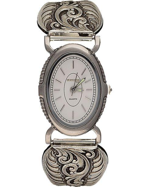 Montana Silversmiths Antiqued Filigree Expansion Band Watch, Silver, hi-res