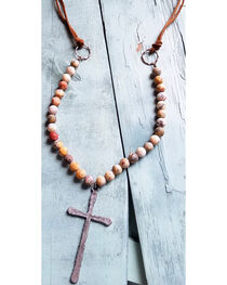 Jewelry Junkie Women's Frosted Crazy Agate Necklace , , hi-res