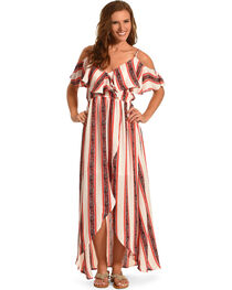 Polagram Women's Ruffle Maxi Dress , , hi-res