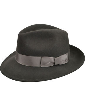 Country Gentleman Men's Slate Frederick Fedora , Slate, hi-res