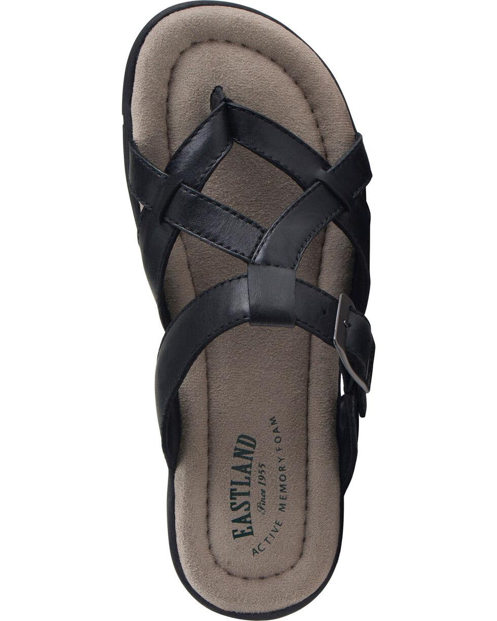 Eastland Women's Black Pearl Thong Sandals, Black, hi-res