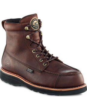 """Irish Setter by Red Wing Shoes Men's Dark Brown Wingshooter UltraDry 7"""" Work Boots , Brown, hi-res"""