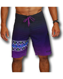 Hooey Men's Purple Print Board Shorts , , hi-res