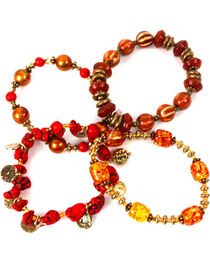 Treska Women's Saffron Sunset 4-Strand Beaded Bracelet , , hi-res