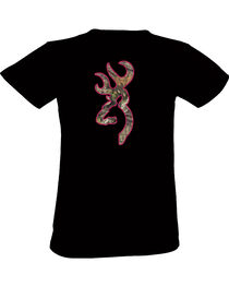 Browning Women's Black Country Buckmark Short Sleeve Tee, , hi-res