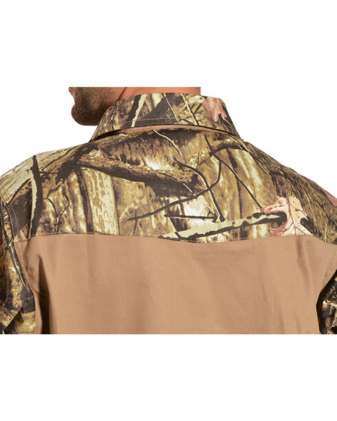Gibson Trading Co. Camo and Khaki Long Sleeve Work Shirt, Khaki, hi-res