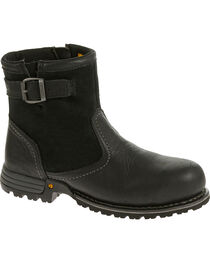 Caterpillar Women's Black Jace Waterproof Work Boots - Steel Toe , , hi-res