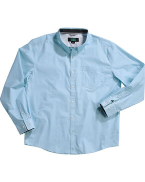 Cody James Men's Alan Blue Long Sleeve Shirt, Blue, hi-res