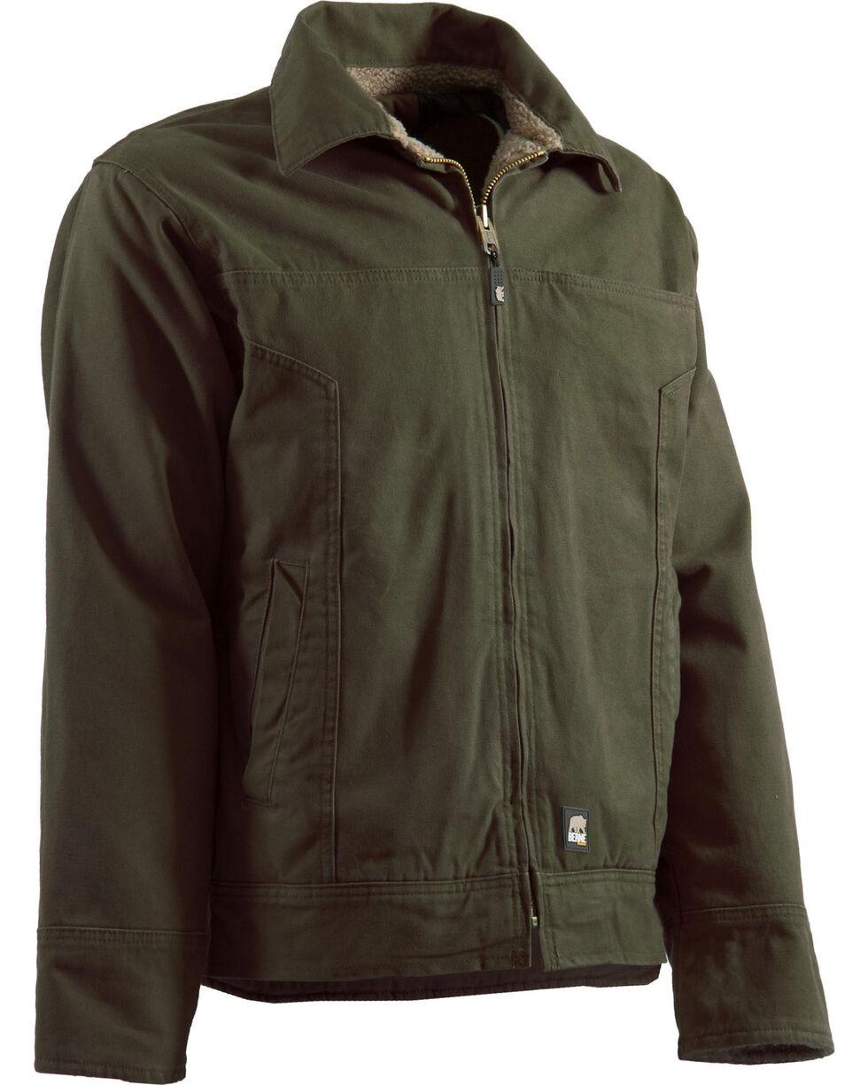 Berne Hickory Washed Aviator Jacket, Moss, hi-res