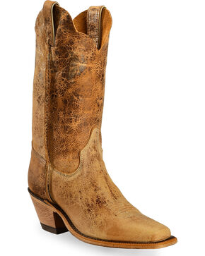 Justin Women's Bent Rail Distressed Western Boots, Tan Distressed, hi-res