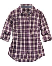 Carhartt Women's Dodson Plaid Long Sleeve Shirt, , hi-res