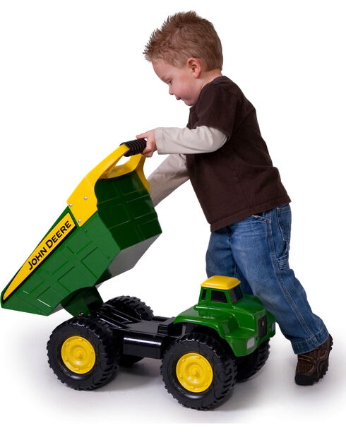 """John Deere 21"""" Big Scoop Dump Truck , Green, hi-res"""