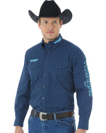 "Wrangler Men's Logo ""X"" Patterned Long Sleeve Shirt, , hi-res"