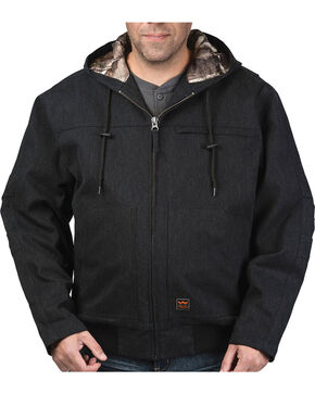 Walls Men's Jacksboro Muscle Back Hooded Jacket with Kevlar, Black, hi-res