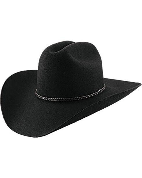 Master Hatters Men's Black Lariat 2X Wool Cowboy hat , Black, hi-res