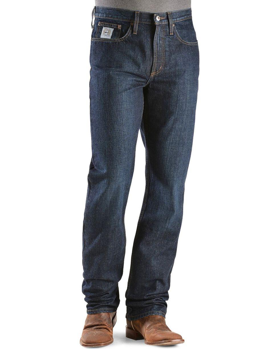 Cinch Men's Silver Label Slim Fit Jeans, Dark Stone, hi-res