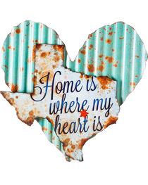 Evergreen Light Blue Heart with White Texas Wall Art , , hi-res