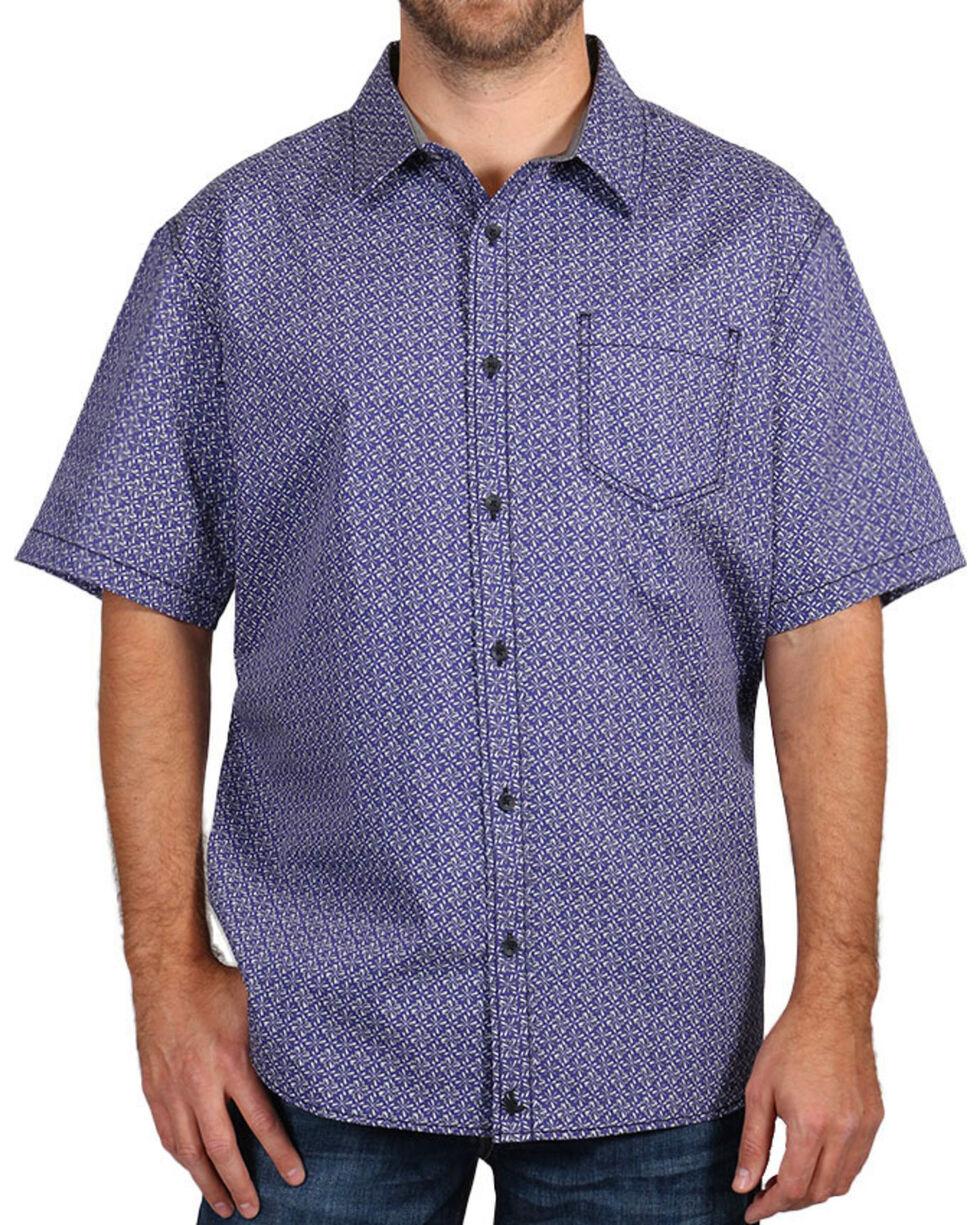 Cody James® Men's Printed Short Sleeve Shirt, White, hi-res