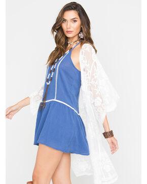 Polagram Women's Lace Kimono , White, hi-res
