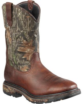 Ariat Men's Workhog H2O Waterproof Steel Toe Western Work Boots, Brown, hi-res