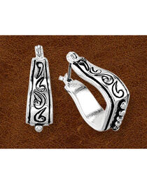Kelly Herd Sterling Silver Stirrup Earrings, , hi-res