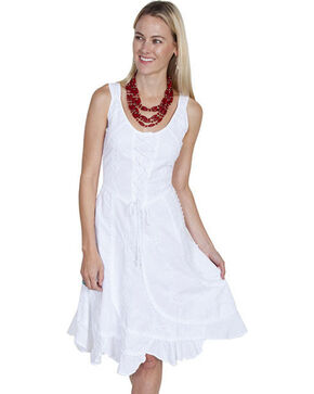 Scully Sleeveless Peruvian Cotton Dress, White, hi-res