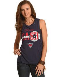 Bohemian Cowgirl Women's Navy Johnny Cash Tank Top , , hi-res