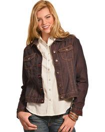 Ryan Michael Women's Color Denim Jacket, , hi-res