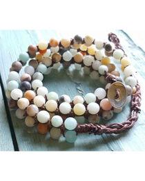 Jewelry Junkie Women's Double-Stand Amazonite Beaded Wrap Bracelet , , hi-res