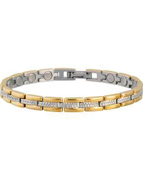 Sabona Ladies' Executive Regal Duet Magnetic Bracelet, Gold, hi-res