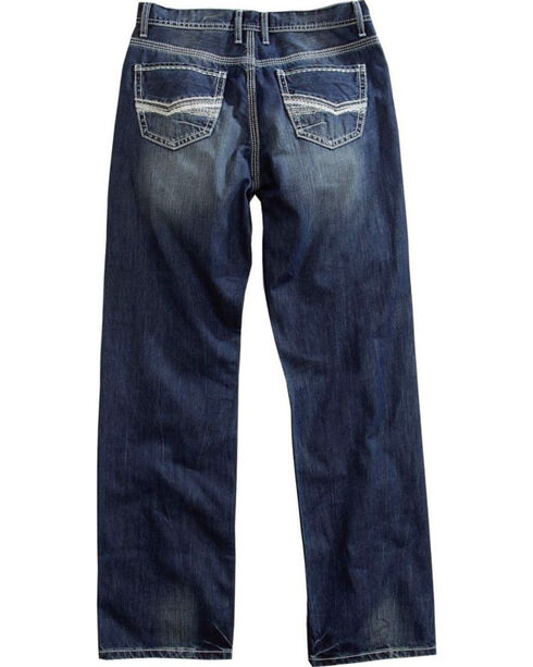 Tin Haul Men's Regular Joe Fit Medium Wash Jeans - Boot Cut, Indigo, hi-res