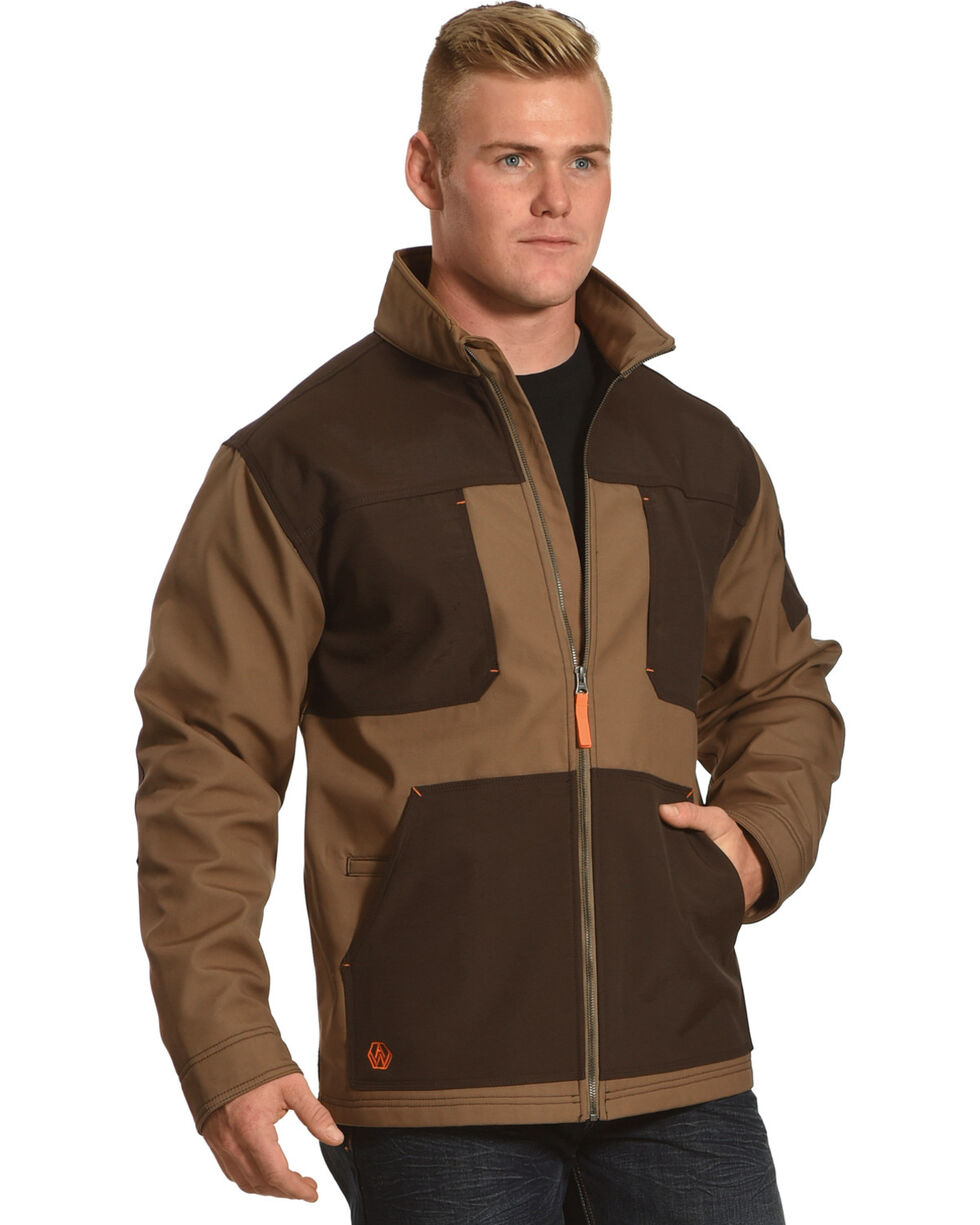 American Worker Men's Brace Canvas Jacket, Brown, hi-res