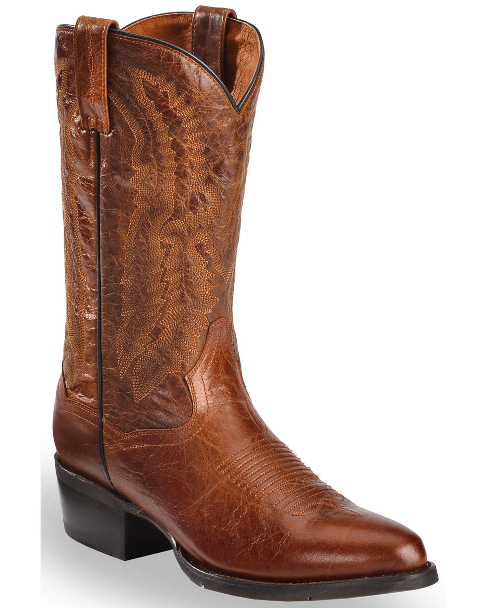 Dan Post Men's Cash Western Boots, Cognac, hi-res