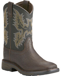 Ariat Youth Boys' Workhog Bruin Western Boots, , hi-res