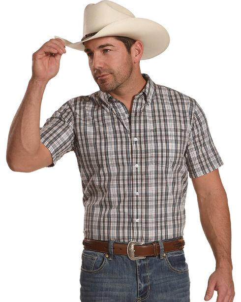 Gibson Men's Brown Plaid Button Down Shirt, Brown, hi-res