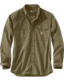Carhartt Men's Force Ridgefield Solid Long Sleeve Shirt , , hi-res